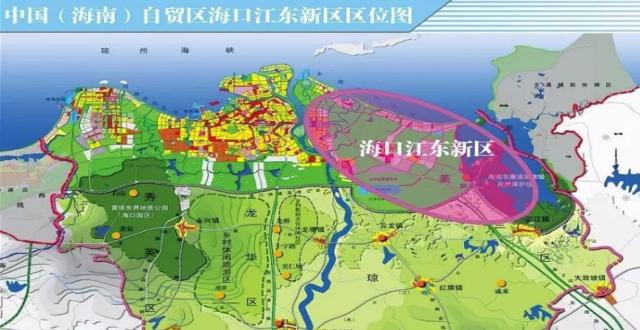 海口江东六大片区 将打造总部经济区和海南国际新客厅