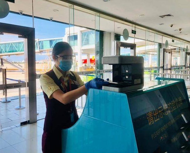 """三亚机场实现国内航班""""无纸化""""乘机全覆盖"""