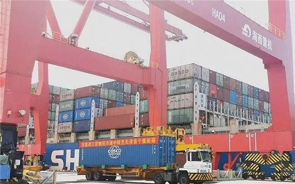 再开新航线!洋浦-天津内外贸同船运输通道开通启用