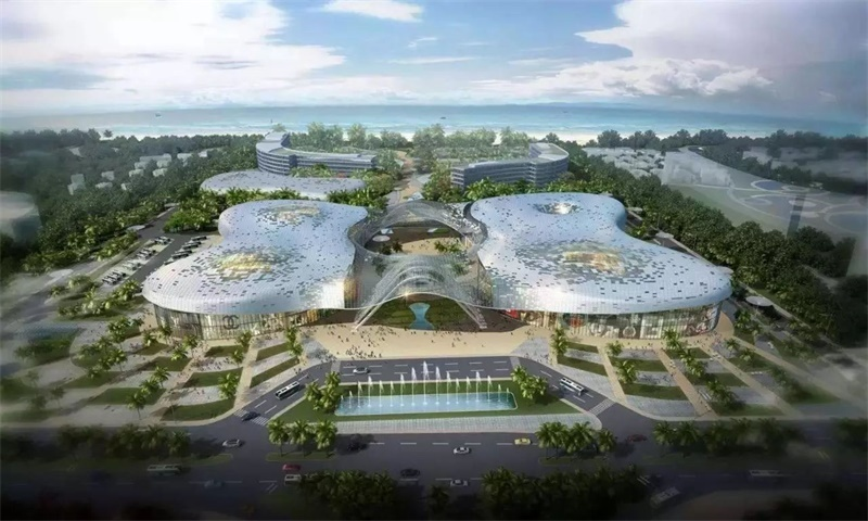 三亚国际免税城效果图