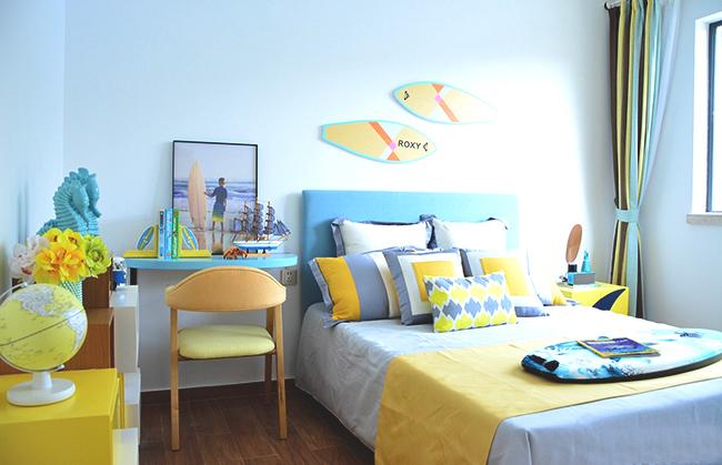 富力湾云海阁2期03户型样板间:卧室(三室两厅两卫一厨 建面113.76㎡)