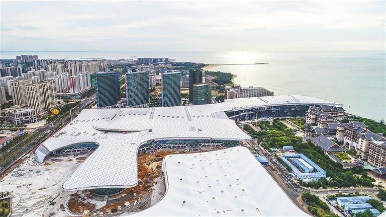 航拍海南国际会展中心二期项目