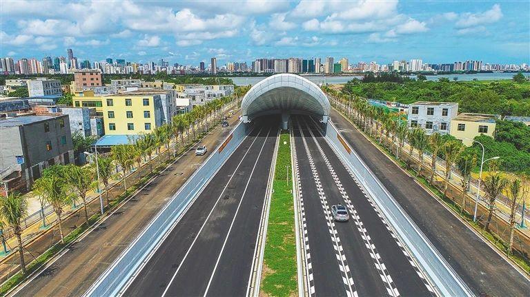 文明东隧道正式通车