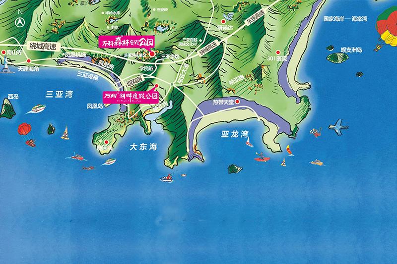 万科湖畔度假公园区位图