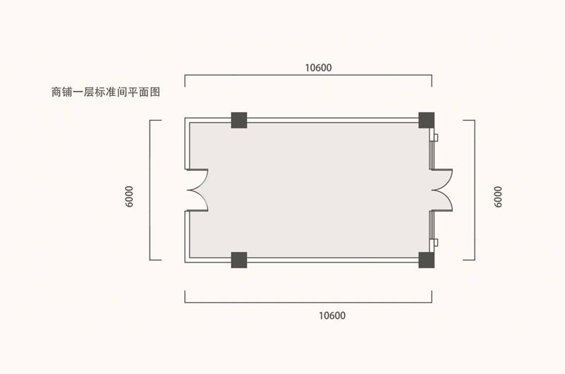 商铺一层标准间平面图