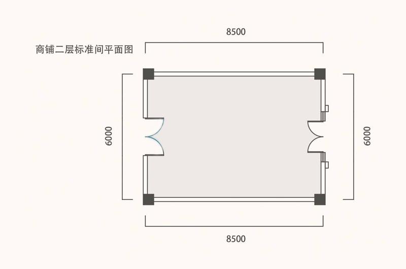 商铺二层标准间平面图