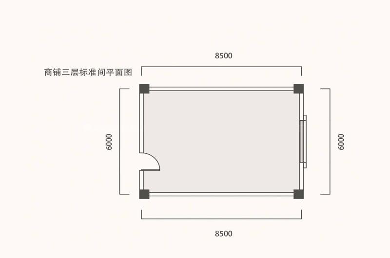 商铺三层标准间平面图