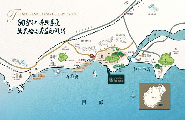 金泰南燕湾区位图