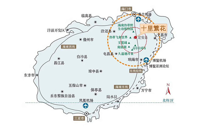 碧桂园十里繁花 区位图