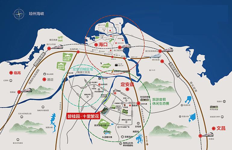 碧桂园十里繁花区位图