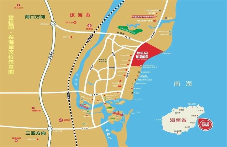碧桂园东海岸 区位图