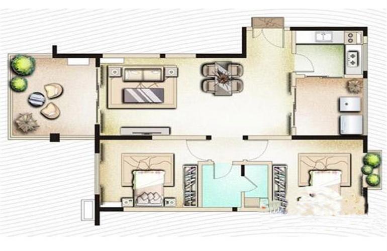 博鳌印象 B5两房两厅一卫