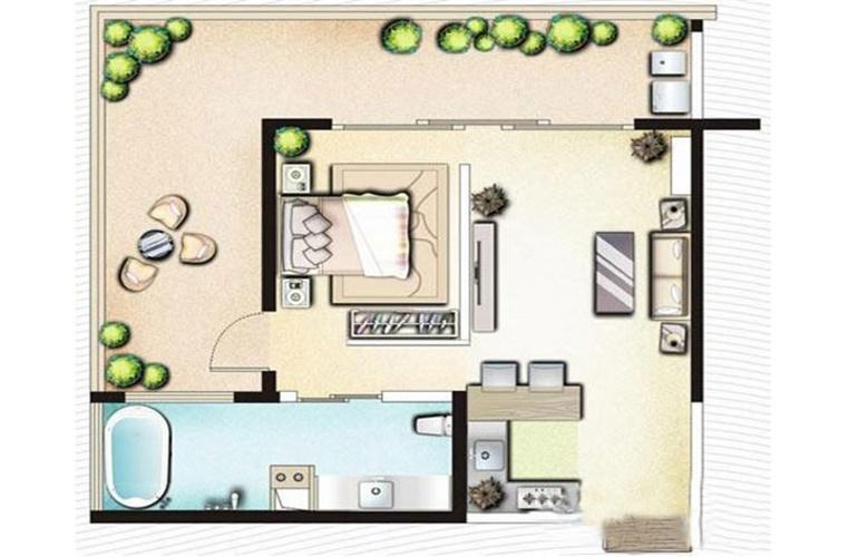 博鳌印象 A1一房一厅一卫