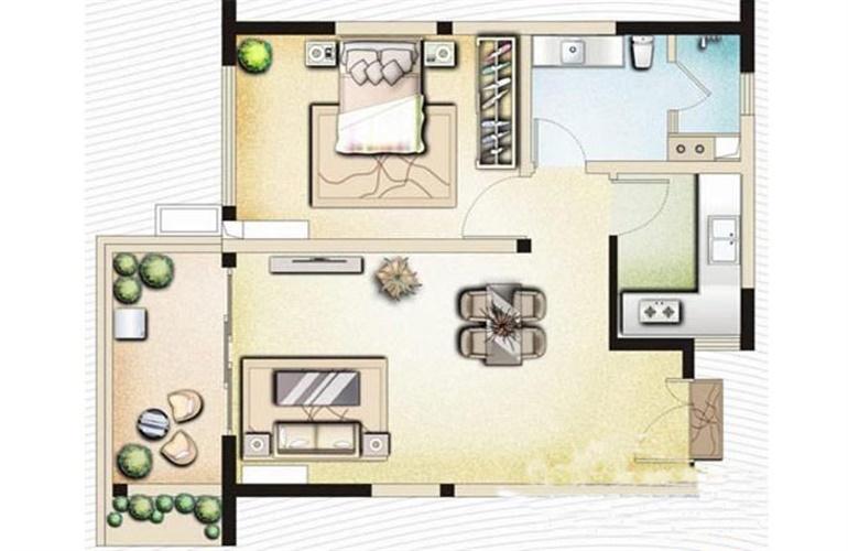博鳌印象 B3一房两厅一卫