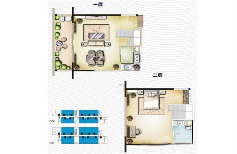 博鳌印象 一房两厅一卫