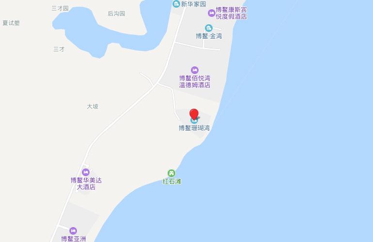 博鳌珊瑚湾 区位图