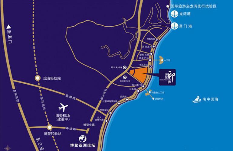 博鳌珊瑚湾区位图