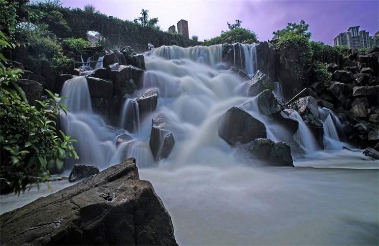 富力红树湾 广德桥瀑布