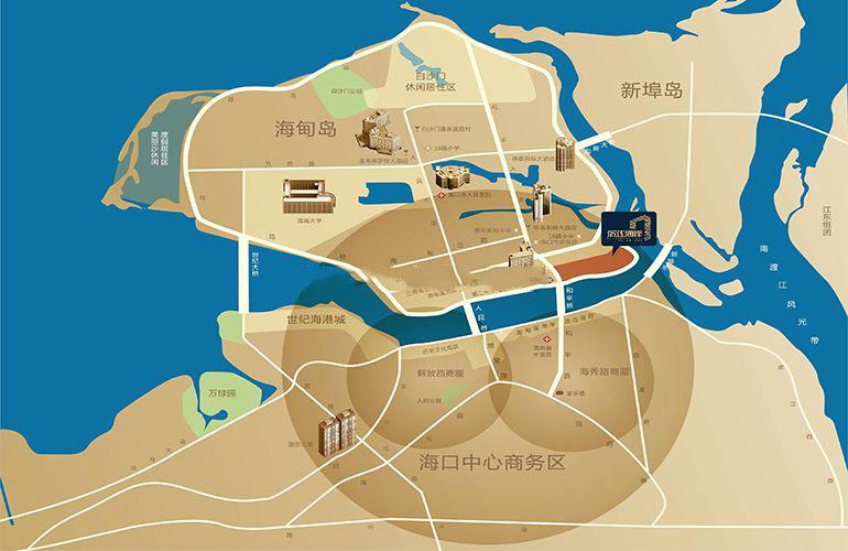 碧桂园滨江海岸 区位图