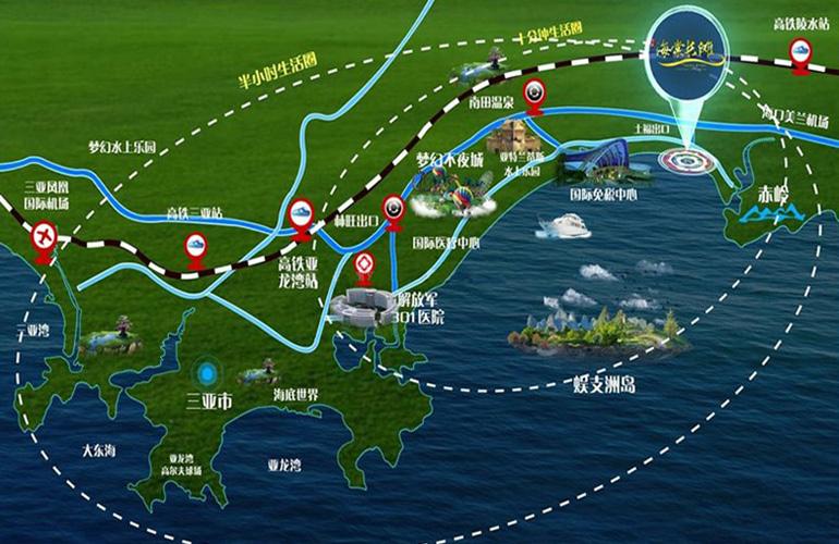 清凤海棠长滩 区位图
