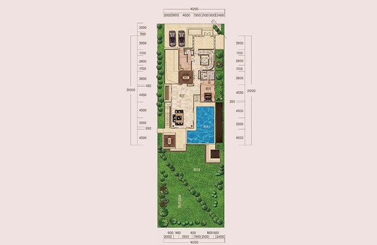 E1户型-5室2厅6卫-首层