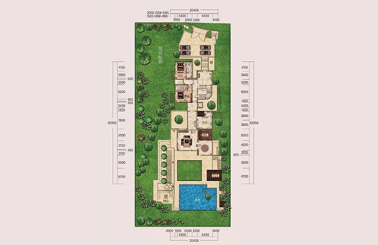 B户型-6室3厅7卫-首层