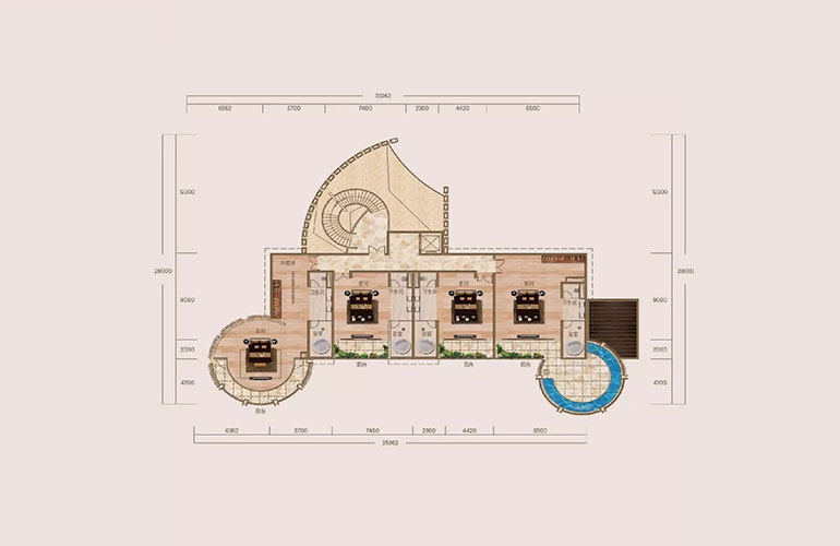 A户型-6室4厅8卫-第二层