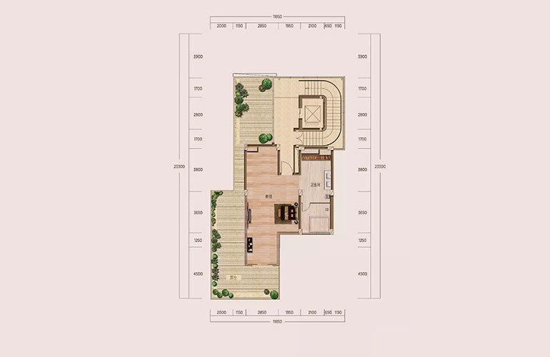 E1户型-5室2厅6卫-第三层