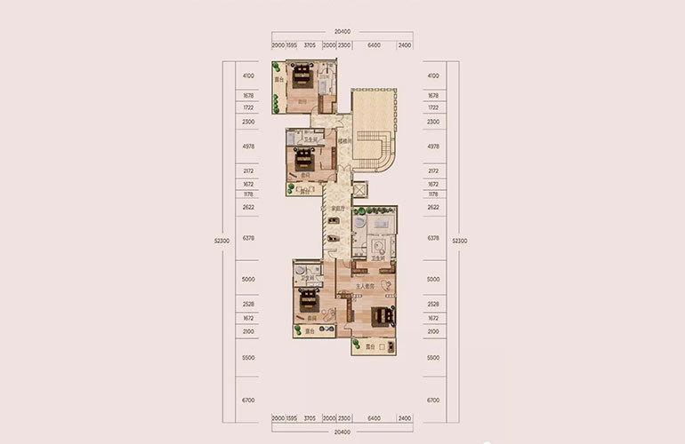 B户型-6室3厅7卫-第二层