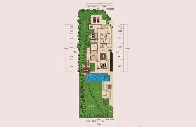D1户型-5室2厅6卫-首层