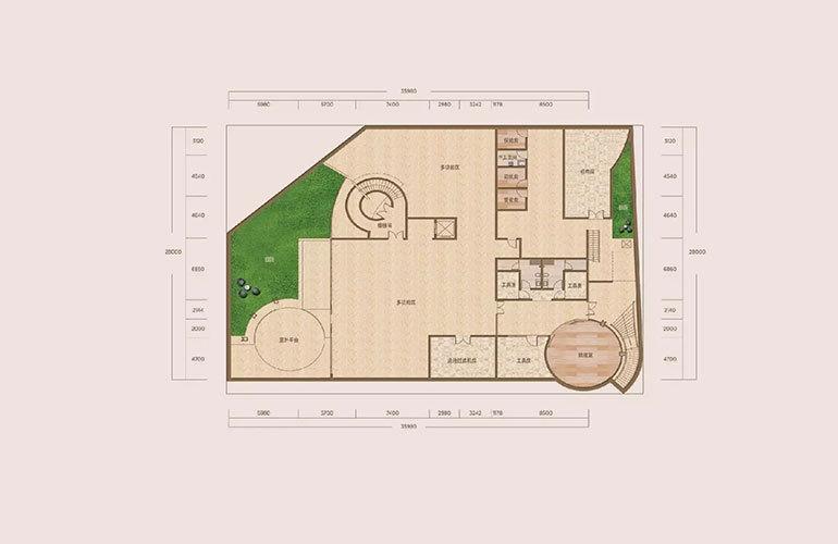 A户型-6室4厅8卫-下沉式庭院