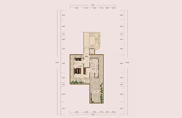 C1户型-6室3厅7卫-第三层