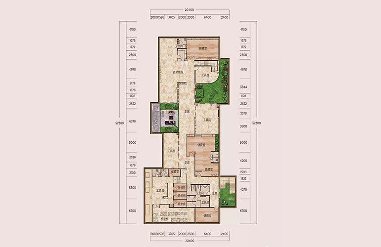 B户型-6室3厅7卫-下沉式庭院