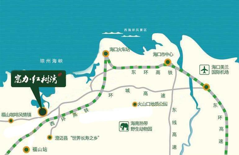 富力红树湾 交通图