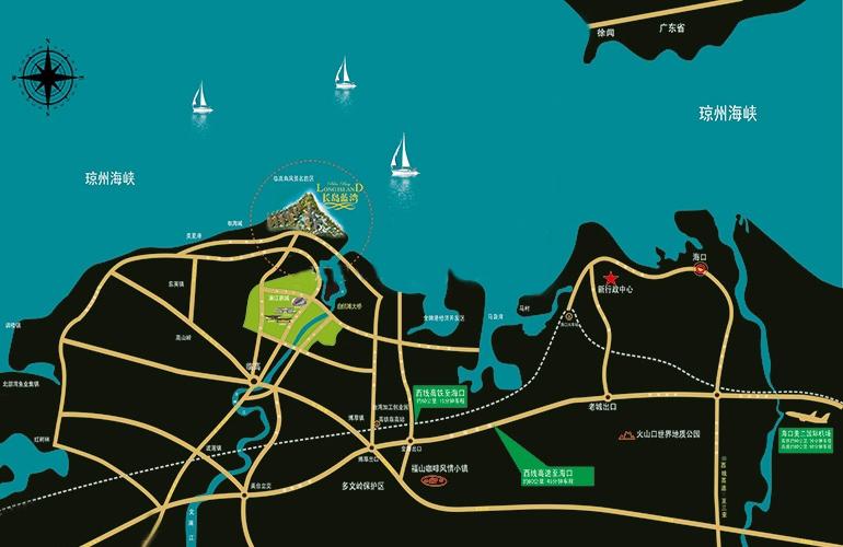 長島藍灣區位圖