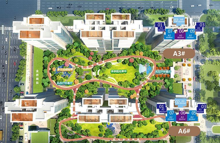 金地海南自在城 规划图