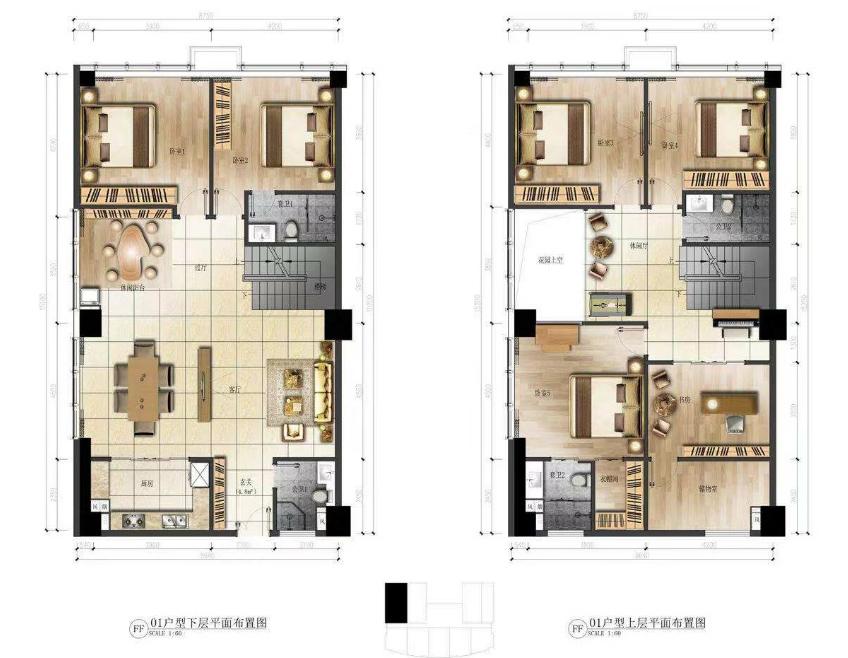 华庭国际商务中心 6室3厅4卫 建面170㎡