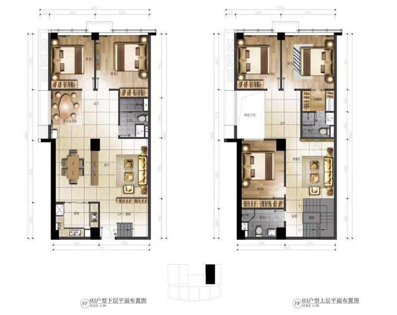 华庭国际商务中心 5室3厅3卫  建面155㎡