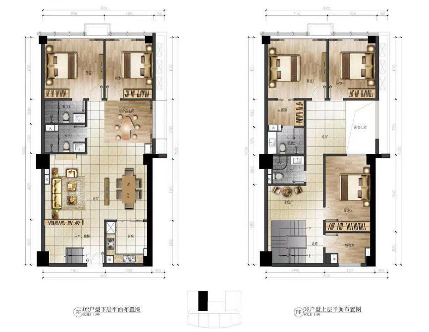 华庭国际商务中心 6室3厅4卫  建面139㎡