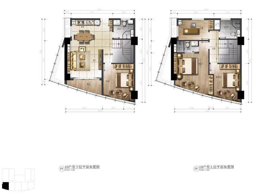 华庭国际商务中心 4室2厅3卫  建面110㎡