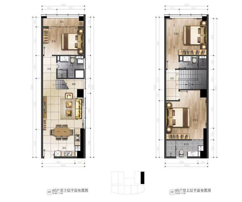 华庭国际商务中心 3室2厅3卫 建面91㎡