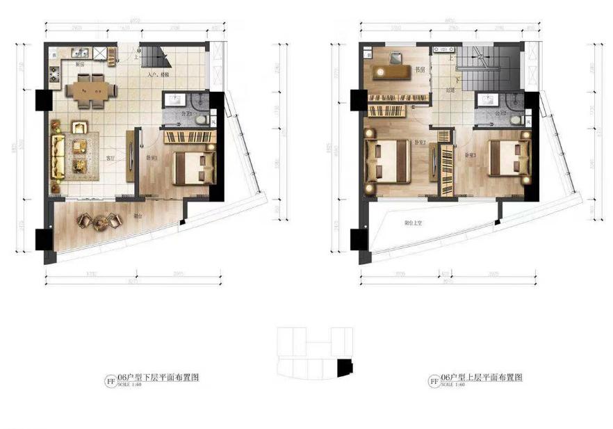 华庭国际商务中心 4室2厅2卫 建面73㎡