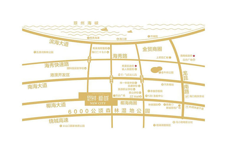恩祥新城 區位圖