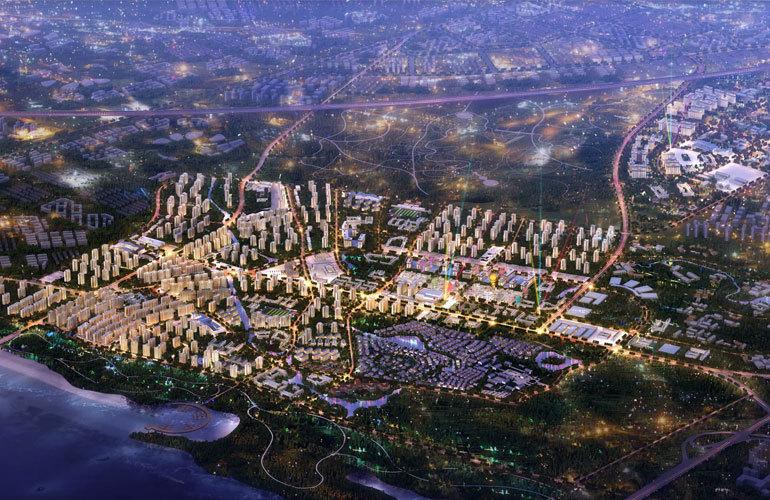 绿地城江东首府 鸟瞰图