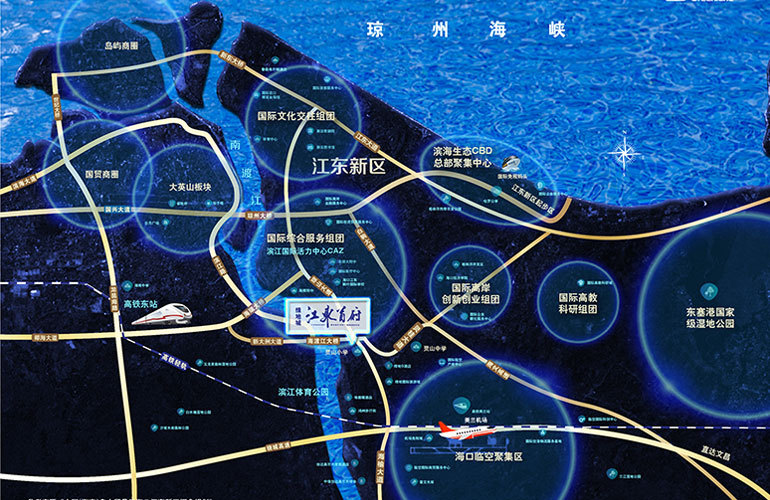 绿地城江东首府区位图