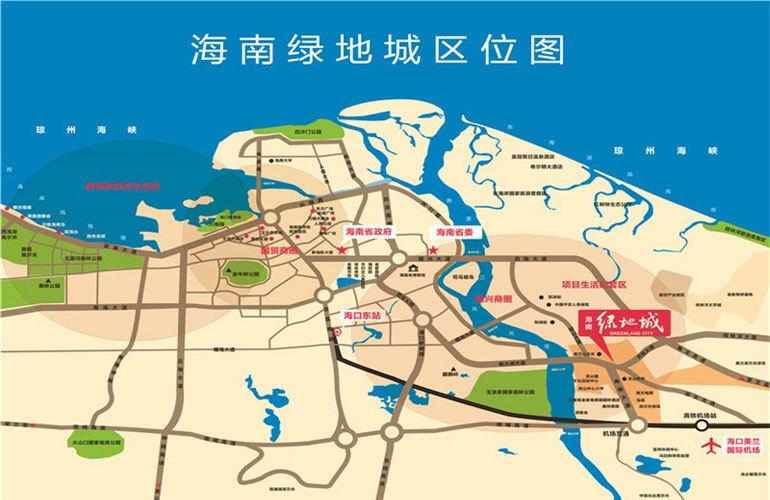 绿地城江东首府 区位图