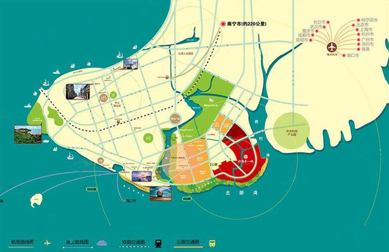 北海第一城 区位图