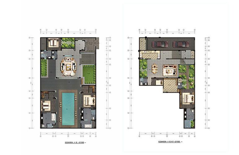 B户型 4+1房3花园 建面122㎡