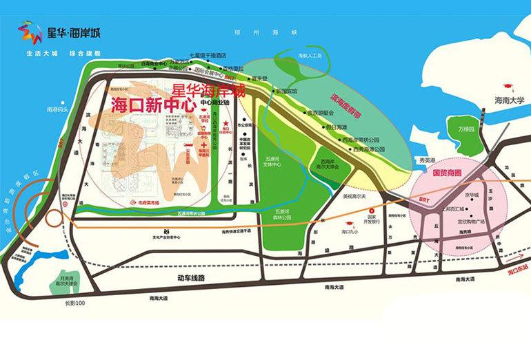星华海岸城 区位图
