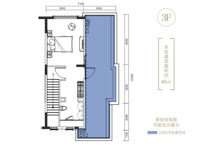 昆明富力湾 澜湖境户型三层 4室2厅4卫1厨 220㎡